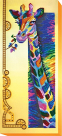 KRALEN BORDUURPAKKET RAINBOW GIRAFFE - ABRIS ART