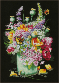 Marjolein Bastin - Kleurig Bloemenboeket (aida)