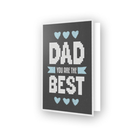 DIAMOND DOTZ GREETING CARD BEST DAD - NEEDLEART WORLD
