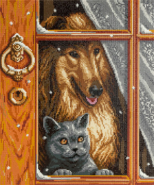 DIAMOND PAINTING CAT AND DOG - FREYJA CRYSTAL