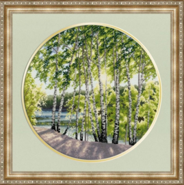 BIRCHES BY THE RIVER - GOLDEN FLEECE