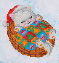 DIAMOND DOTZ SNUG CHRISTMAS KITTY - NEEDLEART WORLD