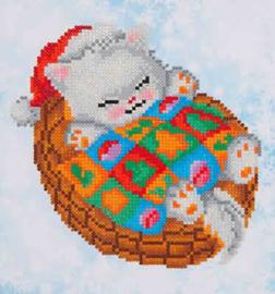 DIAMOND DOTZ SNUG CHRISTMAS KITTY - NEEDLEART WORLD