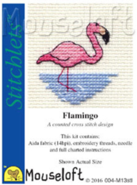Borduurpakketje MOUSELOFT - Flamingo