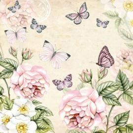 Ambiënte servetten 5st - Botanical Creme 33x33cm