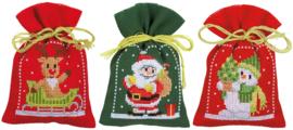 Kruiden of snoepzakjes kerstfiguren (set van 3) PN-0172635