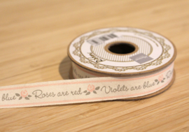 Marianne D Tekst ribbon Roses are Red JU0897
