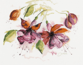 Home and Garden - Fuchsia in Aquarel (linnen)
