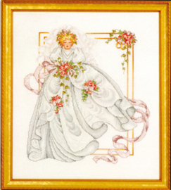 BORDUURPATROON THE BRIDE - VERMILLION STITCHERY