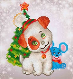DIAMOND DOTZ CHRISTMAS PUP & MOUSE - NEEDLEART WORLD
