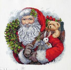 CHRISTMAS: SANTA WITH WREATH