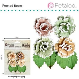 Petaloo • Darjeeling frosted roses pistachio - Papieren bloemen  (4 stuks)