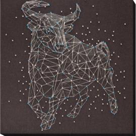 KRALEN BORDUURPAKKET STERRENBEELD STIER - ABRIS ART