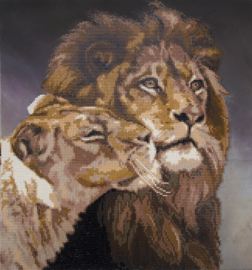 DIAMOND PAINTING LIONS. TENDERNESS - FREYJA CRYSTAL