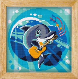 Diamond painting MANDALA FUNNY ANIMALS DIDELADI DOLPHIN