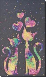 KRALEN BORDUURPAKKET KITTEN LOVE - ABRIS ART