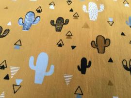 Oker cactus 50 x 55 cm 100% katoen