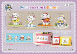 BORDUURPATROON FOUR SEASONS BUNNY - SODA STITCH