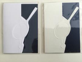Tenniskaarten (set van 2) wit
