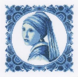 Classic - Tegeltje: Het meisje met de Parel (aida)