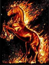 DIAMOND PAINTING FIERY HORSE AZ-1850