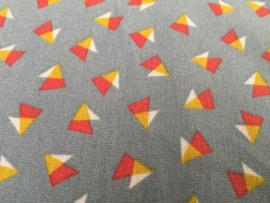 Driehoeksfiguurtjes 50 x 55 cm 100% katoen