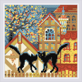 DIAMOND MOSAIC CITY & CATS AUTUMN - RIOLIS
