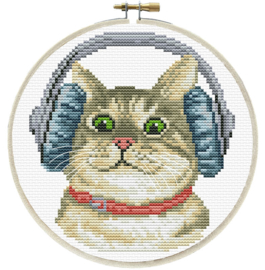 DJ KITTY - LADYBIRD (inclusief houten borduurring)