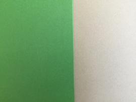 DUO Scrap karton 30 x 30 cm groen/beige (10)