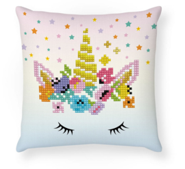 DIAMOND DOTZ FLOWER CROWN MINI PILLOW - NEEDLEART WORLD