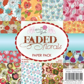 Wild Rose Studio's 6x6 Paper Pack Faded Florals