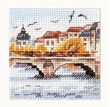 Autumn In The City. Seagulls Over The Bridge SO-216 - ALISA