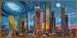 DIAMOND PAINTING MOSCOW AT NIGHT - FREYJA CRYSTAL