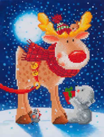 DIAMOND DOTZ REINDEER GIFT - NEEDLEART WORLD