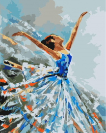 Wizardi Paint-By-Numbers Ballerina