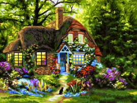 Wizardi Paint-By-Numbers Fairytale House