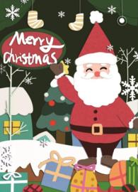 KERSTKAART: MERRY CHRISTMAS