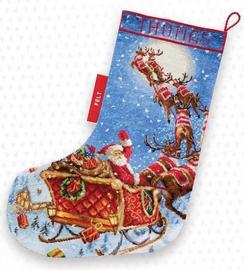 Borduurpakket LETI 989 The Reindeers on it's way! Stocking