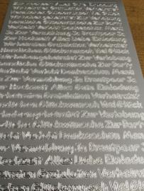 Duitse teksten zilver