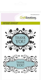 CraftEmotions - Clearstamp - Botanical - Thank you