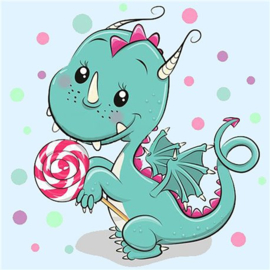 DRAGON WITH CANDY WD2471 20 x 20 cm