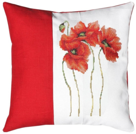 BORDUURPAKKET PILLOW POPPIES 2 - LUCA-S