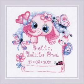 BORDUURPAKKET HELLO, LITTLE ONE! (FOR GIRL)  - RIOLIS