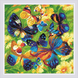 DIAMOND MOSAIC BRIGHT BUTTERFLIES - RIOLIS