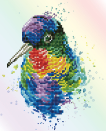 DIAMOND DOTZ RAINBOW FEATHERS - NEEDLEART WORLD