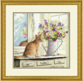 KITTEN IN THE WINDOW - Dimensions (GOLD collection)