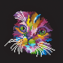 DIAMOND ART COLORED CAT - LEISURE ARTS