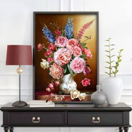 PEONIES AND LUPINES (50 x 70 cm)