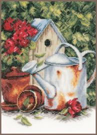 Home and Garden - Gieter en Vogelhuisje (linnen)