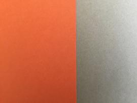 DUO Scrap karton 30 x 30 cm oranje/beige (10)